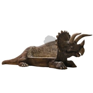 Triceratops, dinozaur figura reklamowa Fiberglass Dinosaurs
