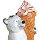 Miś z lodem 130 cm - figura reklamowa