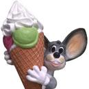 Myszka z lodem - lód reklamowy