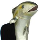Duża ryba - figura reklamowa