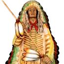 Wódz indiański - figura reklamowa
